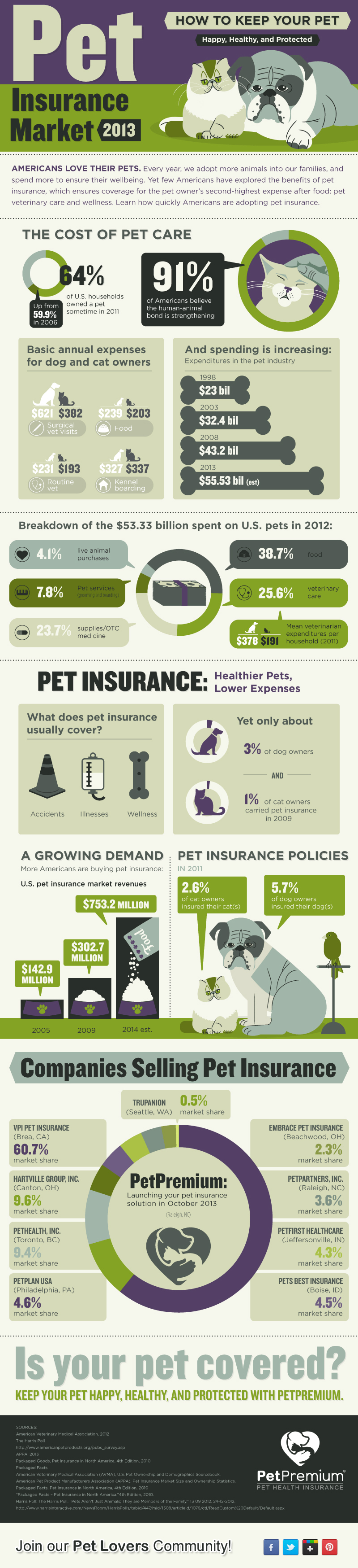 Pet Insurance Market - Infographic